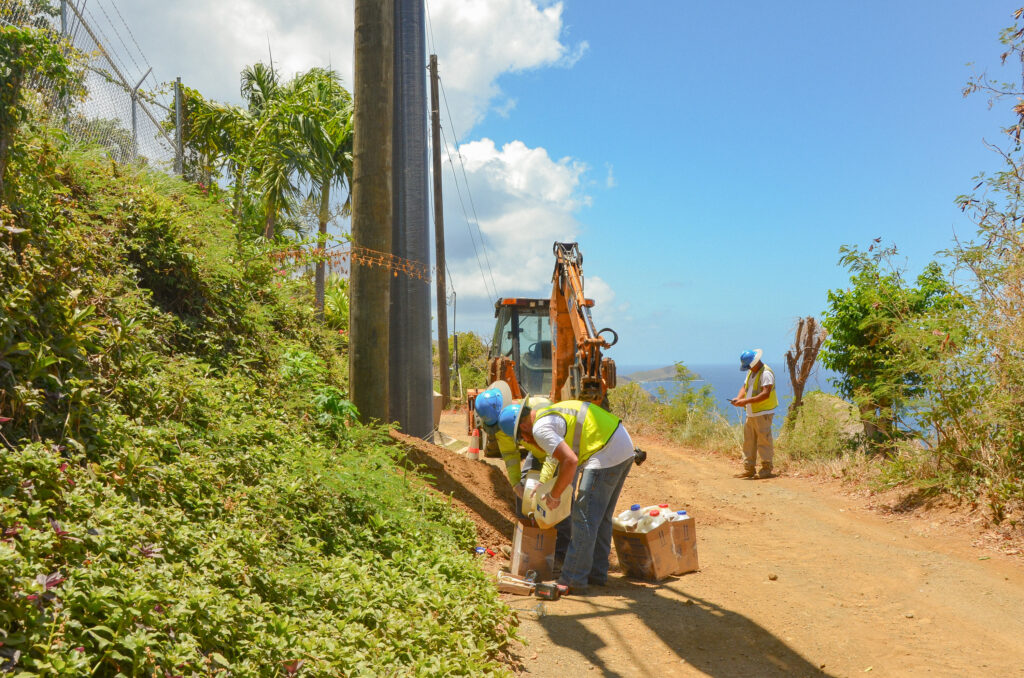 Composite Power Poles Arise On St. Thomas